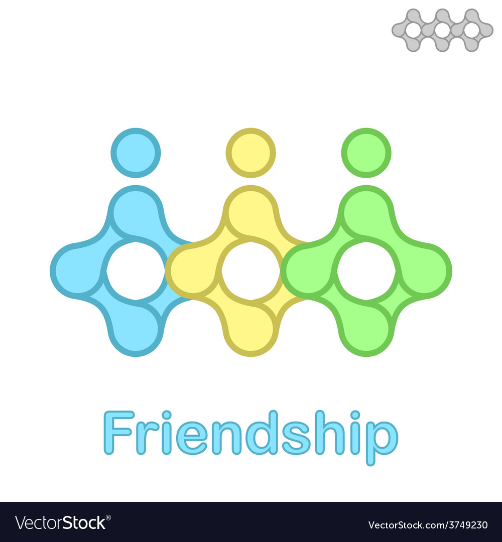 Friendship conceptual icon vector | Price: 1 Credit (USD $1)