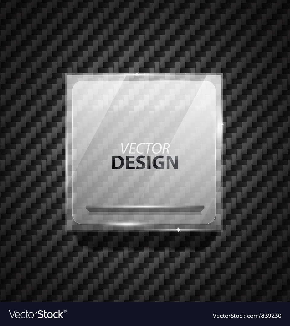 Glass square banner vector | Price: 1 Credit (USD $1)