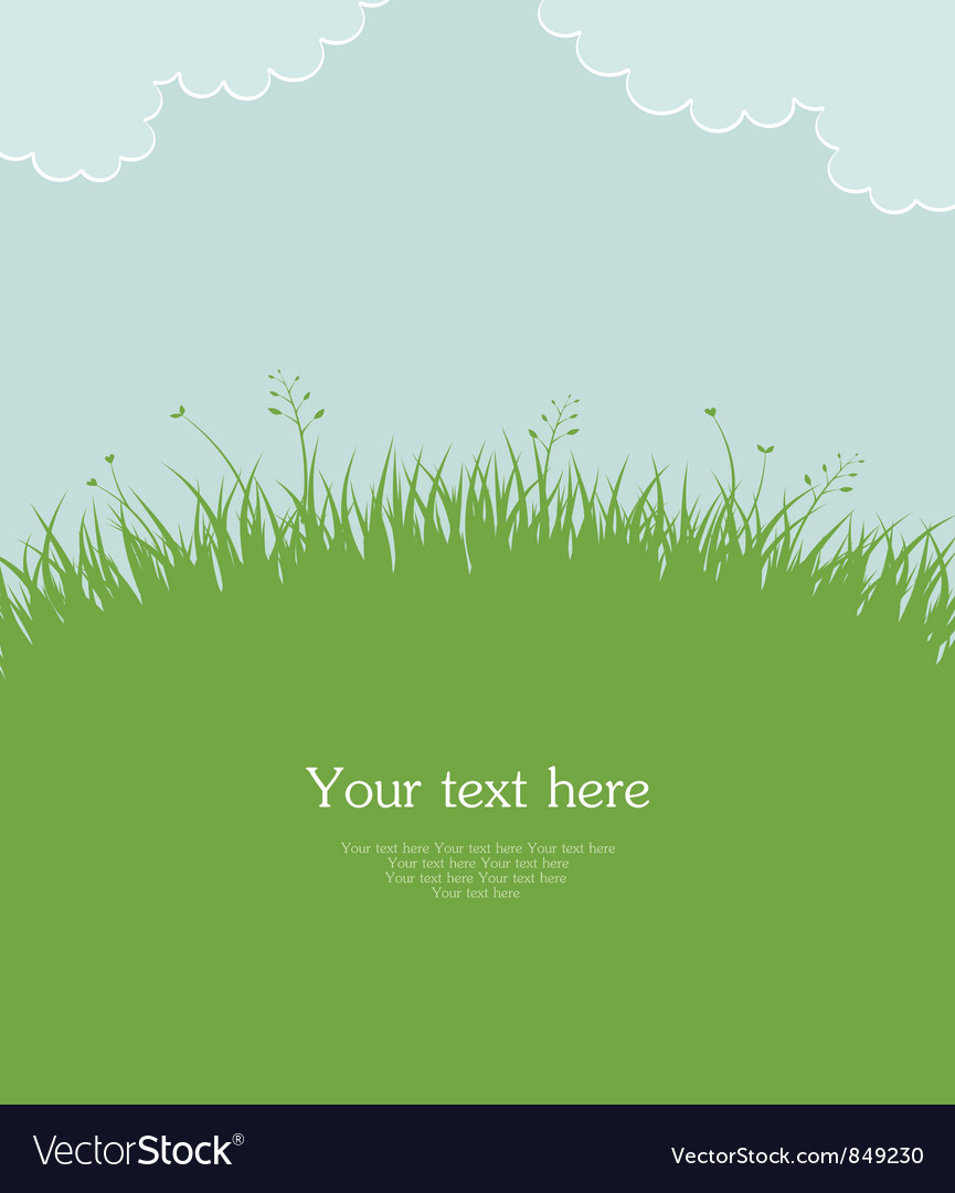 Grass template pic vector | Price: 1 Credit (USD $1)