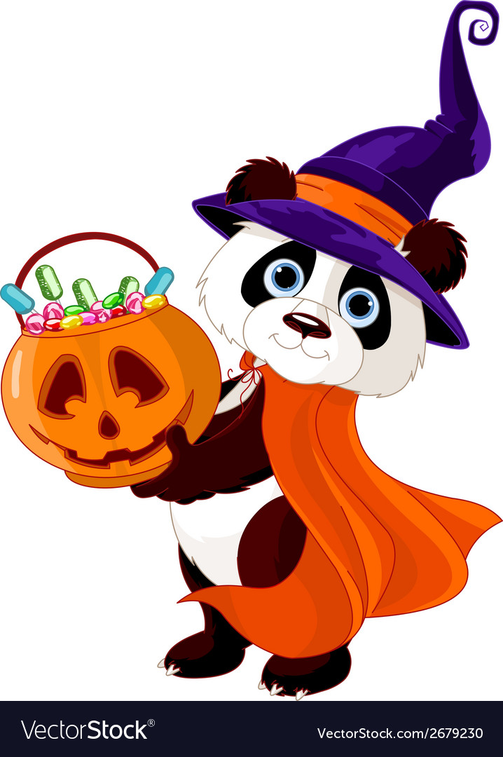 Halloween panda vector | Price: 3 Credit (USD $3)
