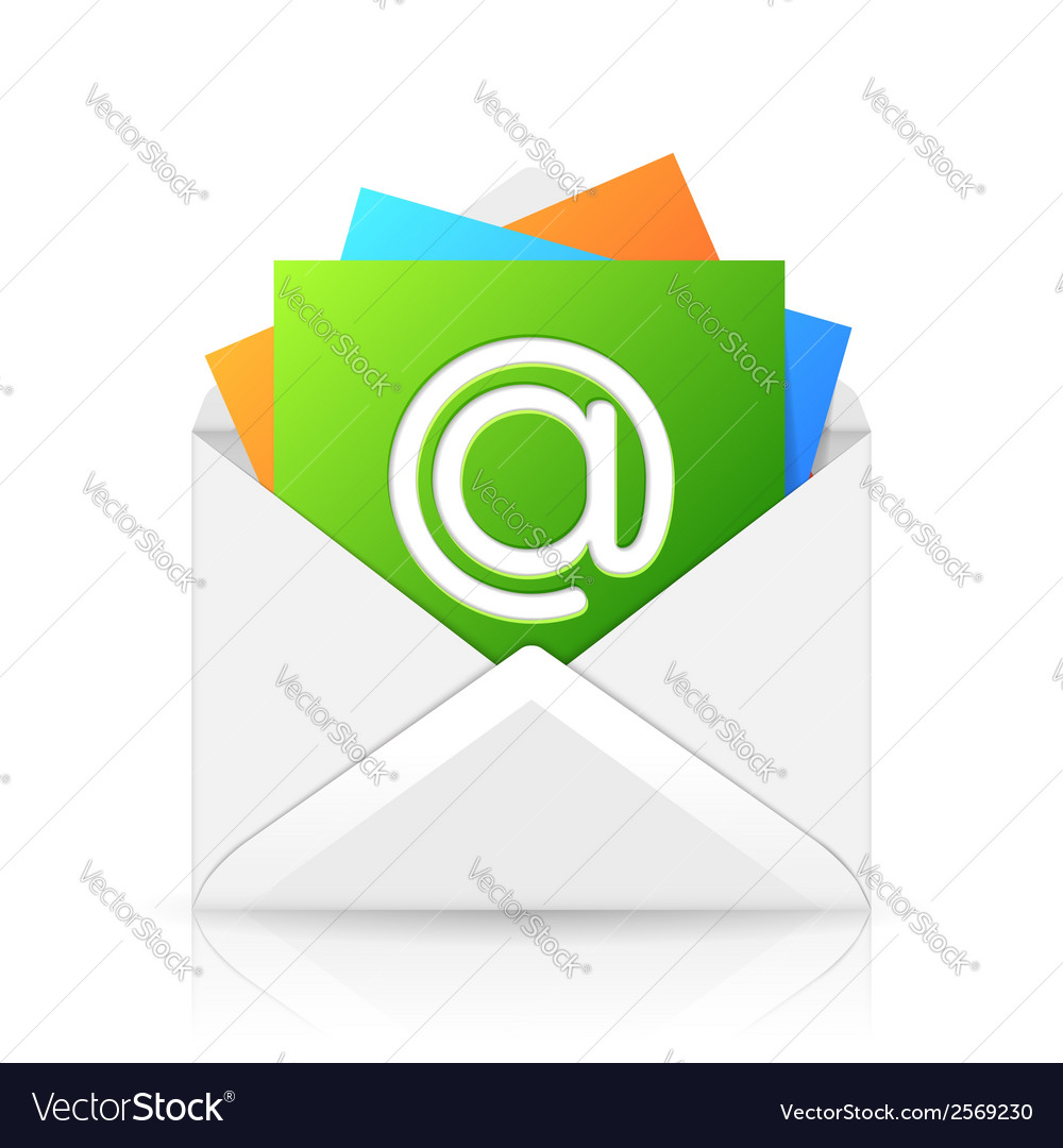 Opened envelope with colorful paper sheet vector | Price: 1 Credit (USD $1)