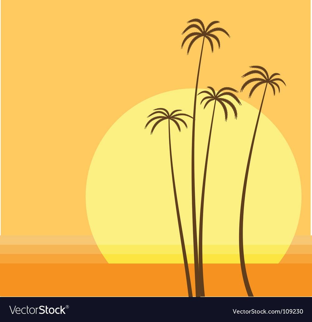 Palm beach vector | Price: 1 Credit (USD $1)