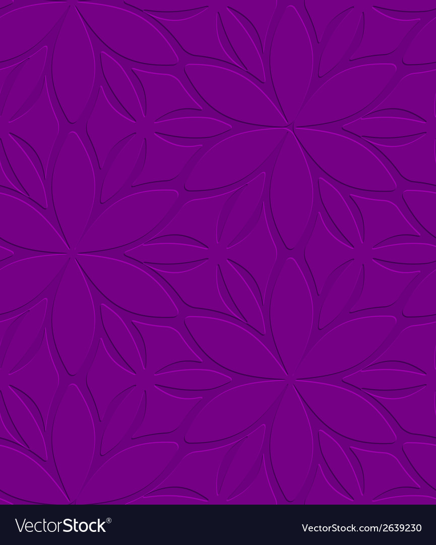 Purple floral ornament embossed seamless vector | Price: 1 Credit (USD $1)