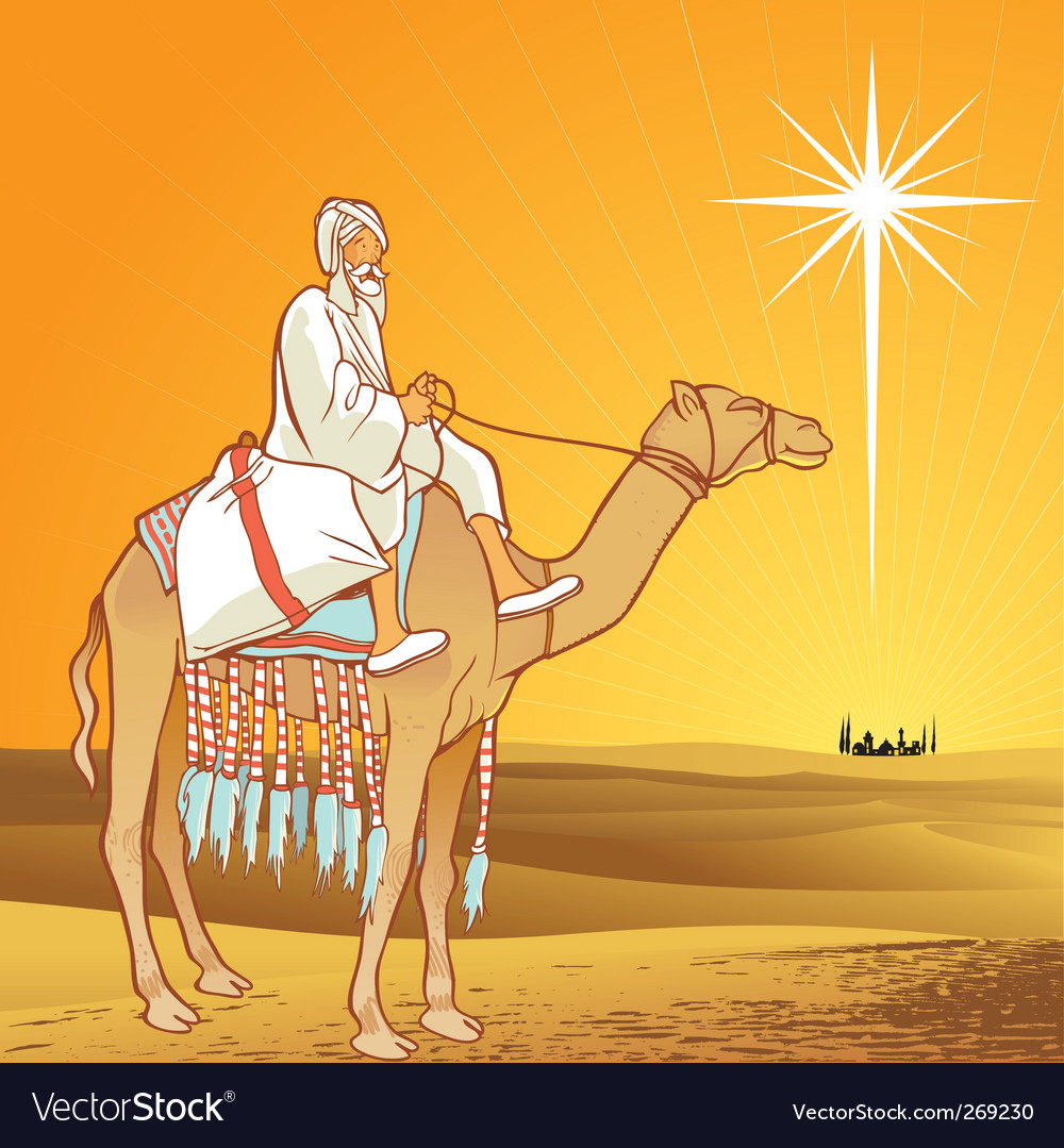 Shining star of bethlehem vector | Price: 3 Credit (USD $3)