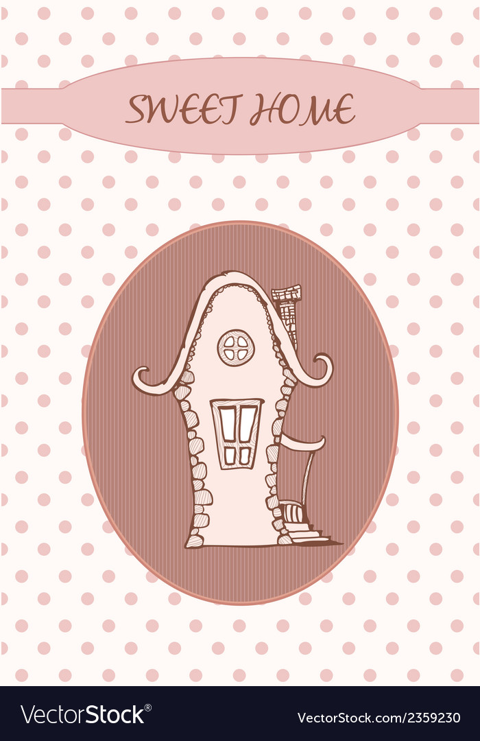 Sweet home - card vector | Price: 1 Credit (USD $1)