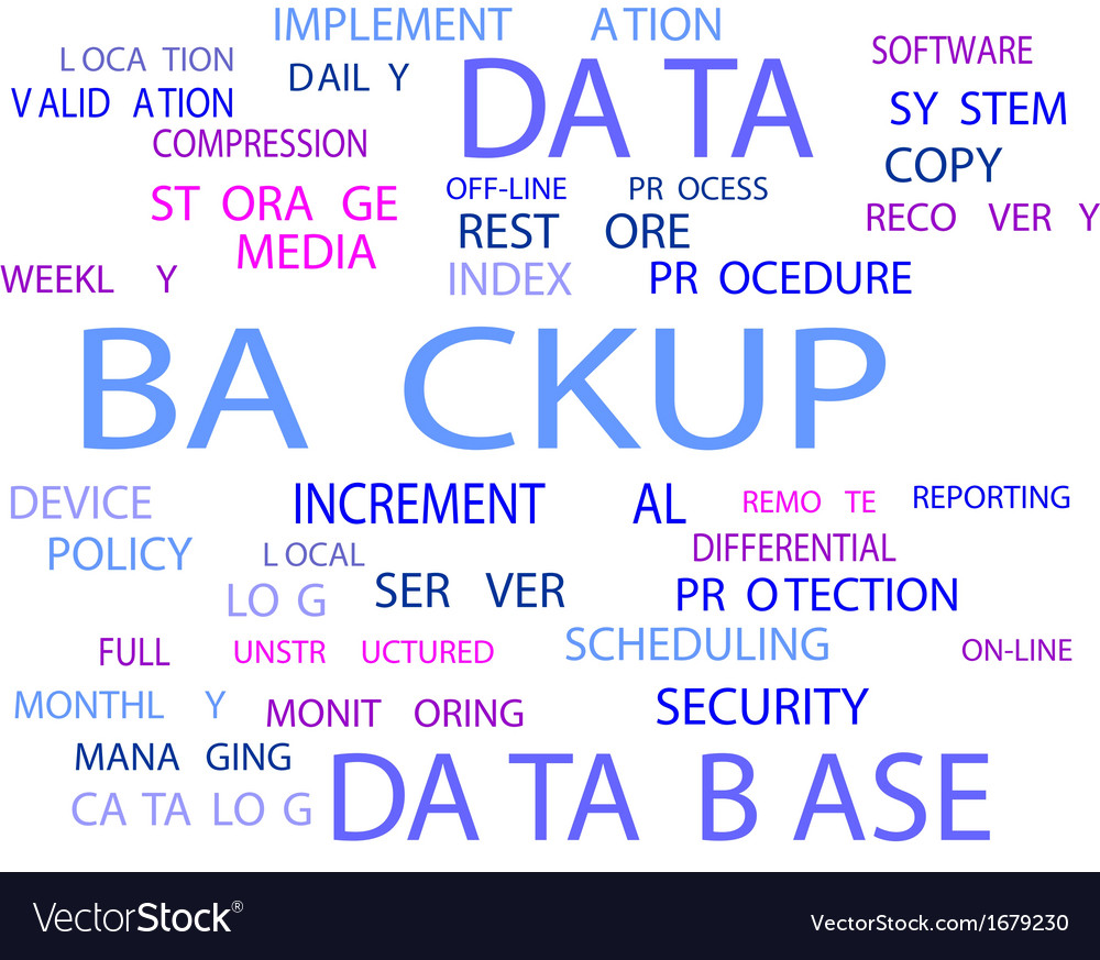 Word cloud backup vector | Price: 1 Credit (USD $1)
