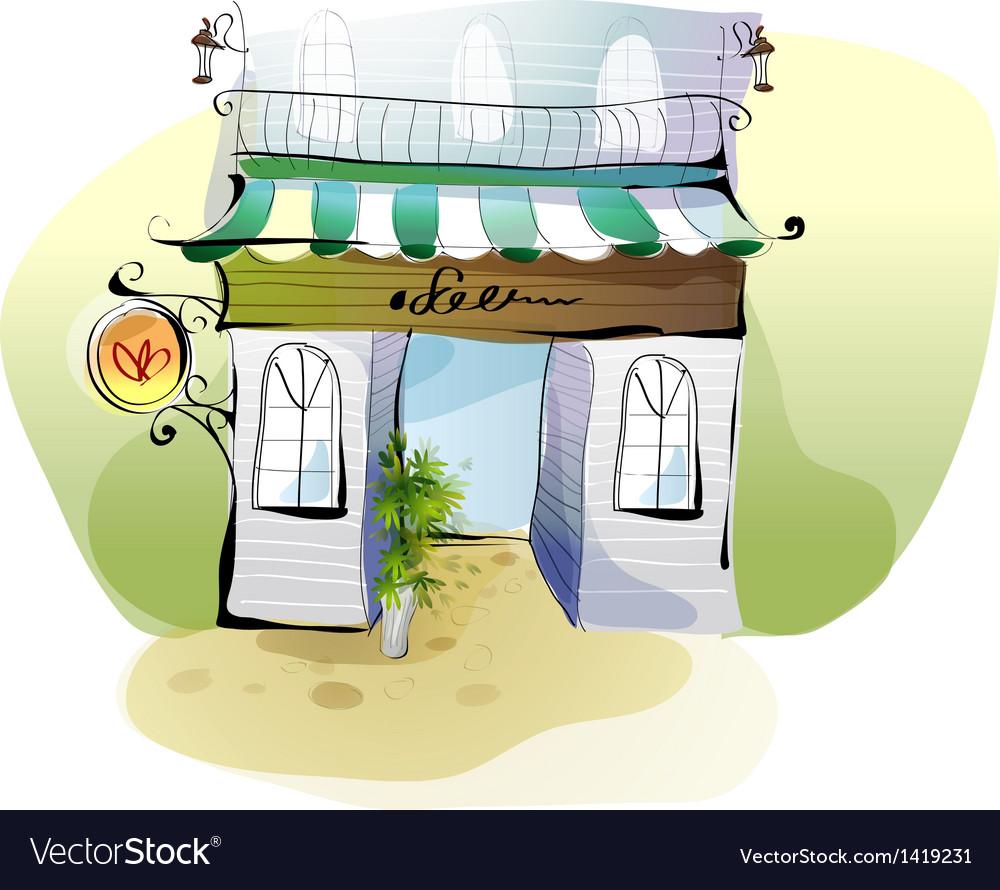 Creative cafe shopfront vector | Price: 1 Credit (USD $1)