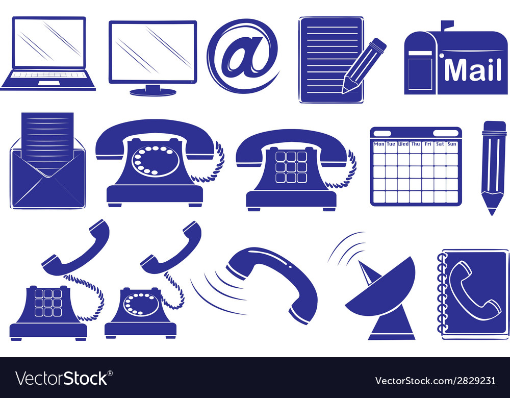 Different medium of communications vector | Price: 1 Credit (USD $1)