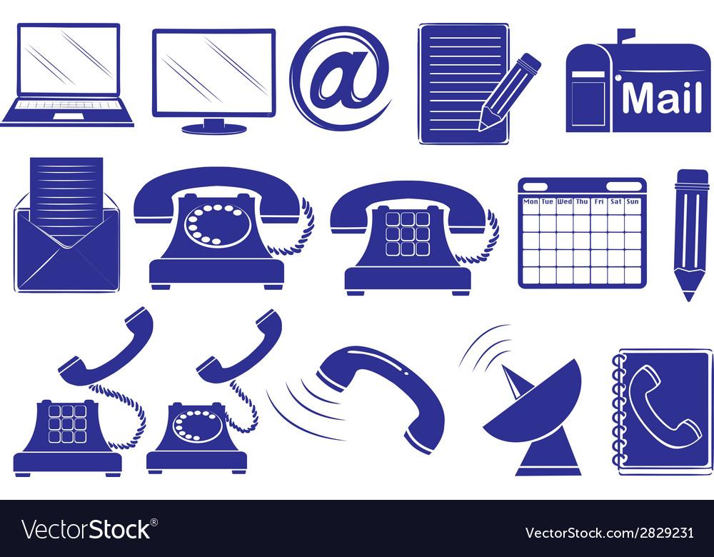 Different medium of communications vector | Price: 1 Credit (USD $1)