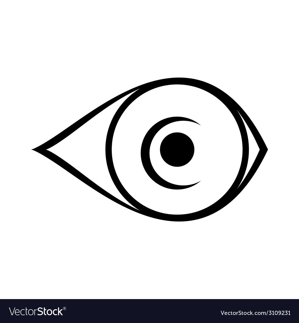 Eye icon on white background vector | Price: 1 Credit (USD $1)
