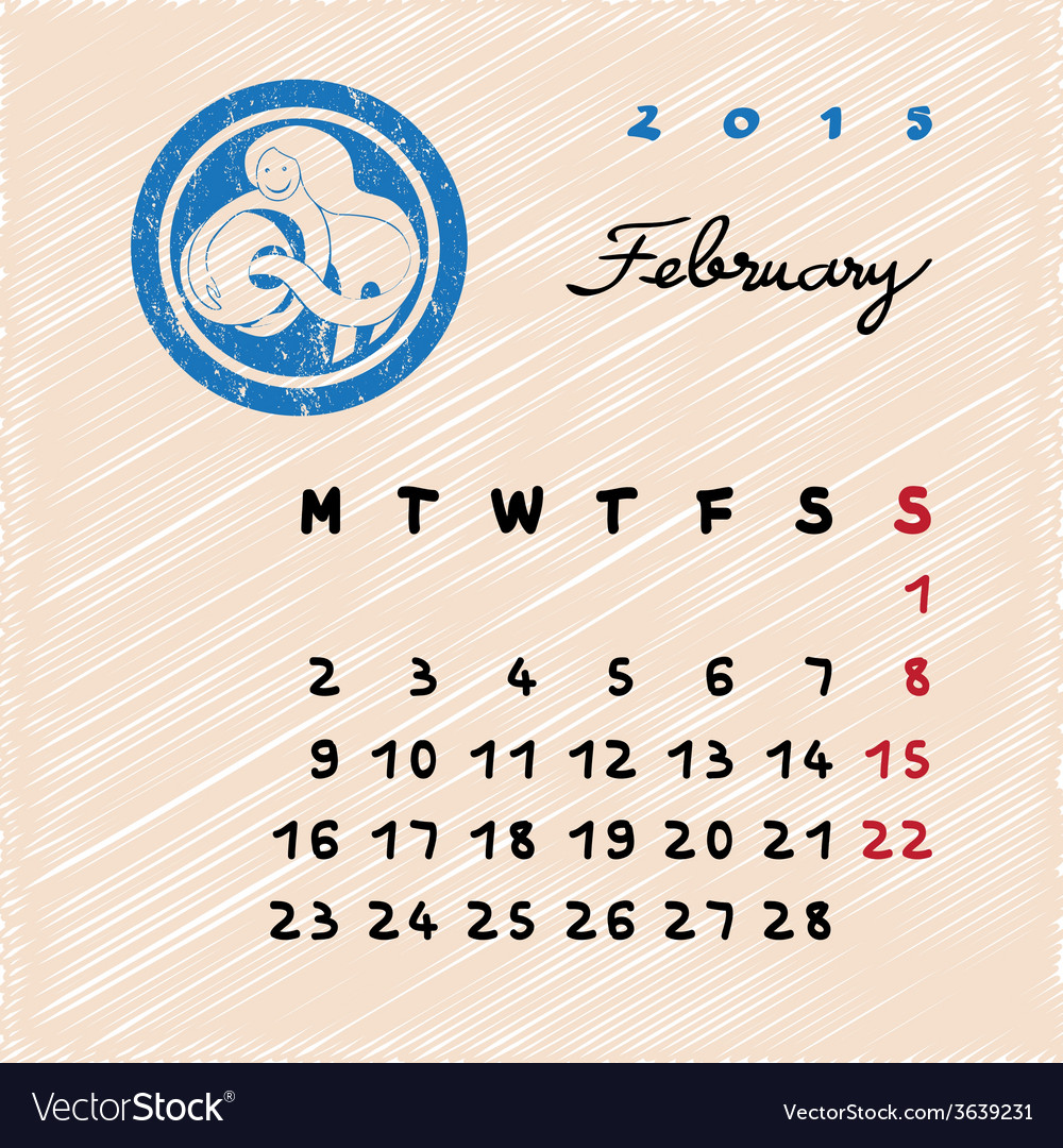 February 2015 zodiac vector | Price: 1 Credit (USD $1)