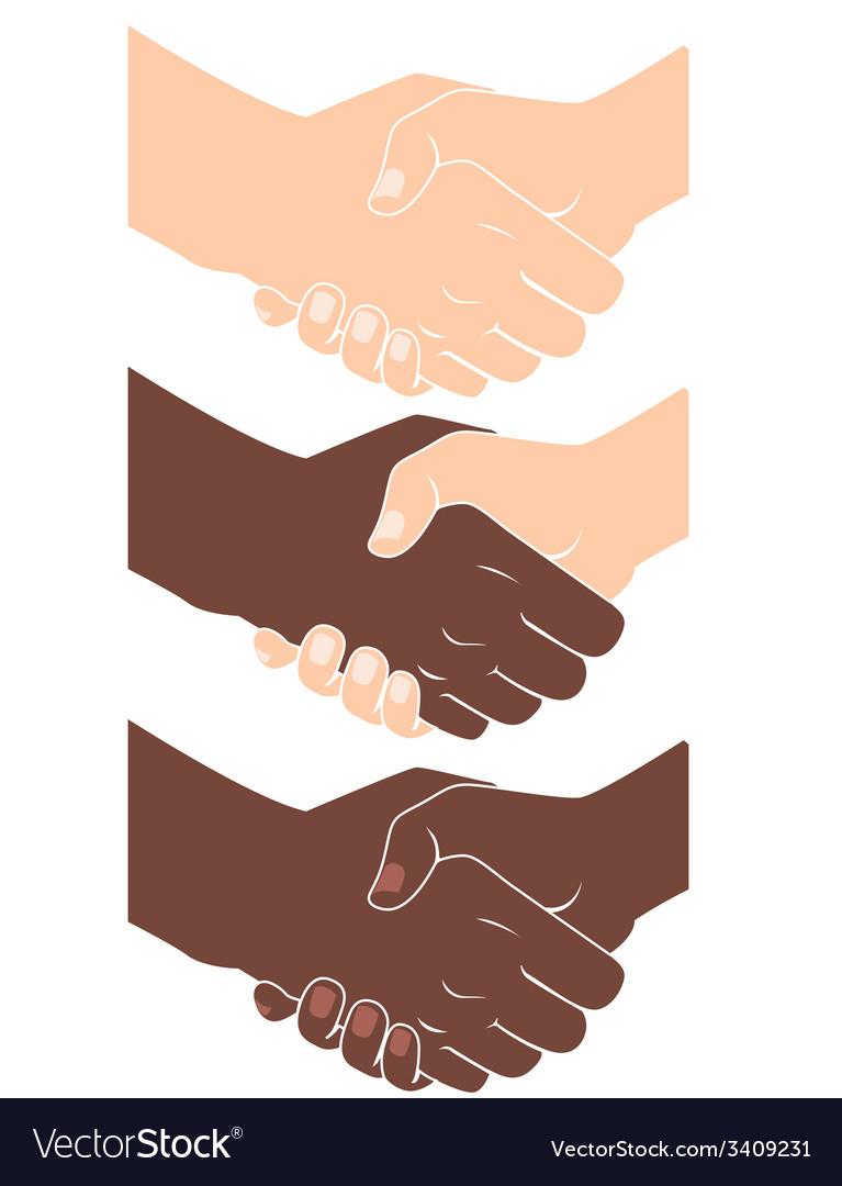 Handshake flat style vector | Price: 1 Credit (USD $1)