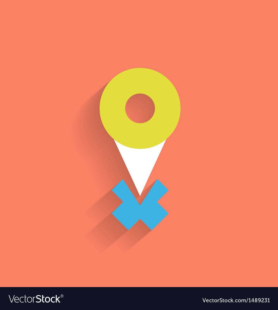 Navigation icon modern flat design vector | Price: 1 Credit (USD $1)