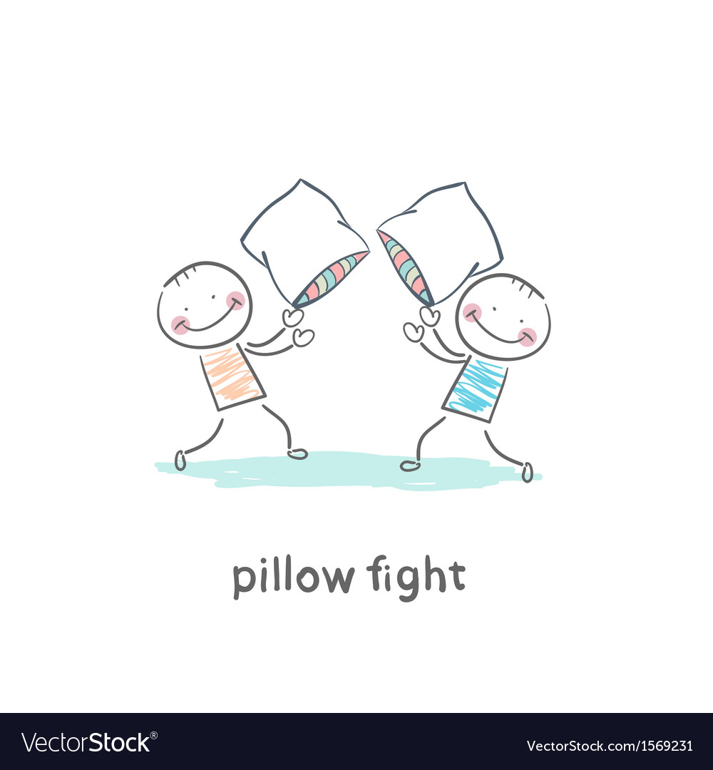 Pillow fights vector | Price: 1 Credit (USD $1)