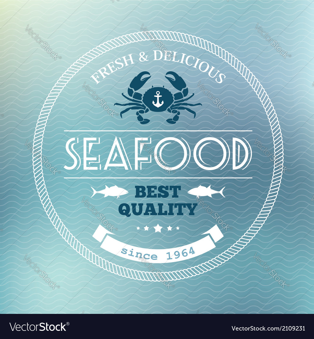 Seafood poster vector | Price: 1 Credit (USD $1)