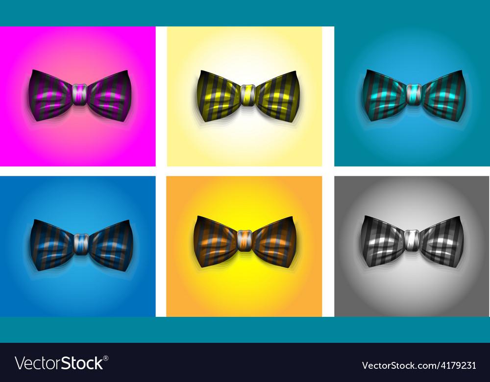 Striped bow tie vector | Price: 1 Credit (USD $1)