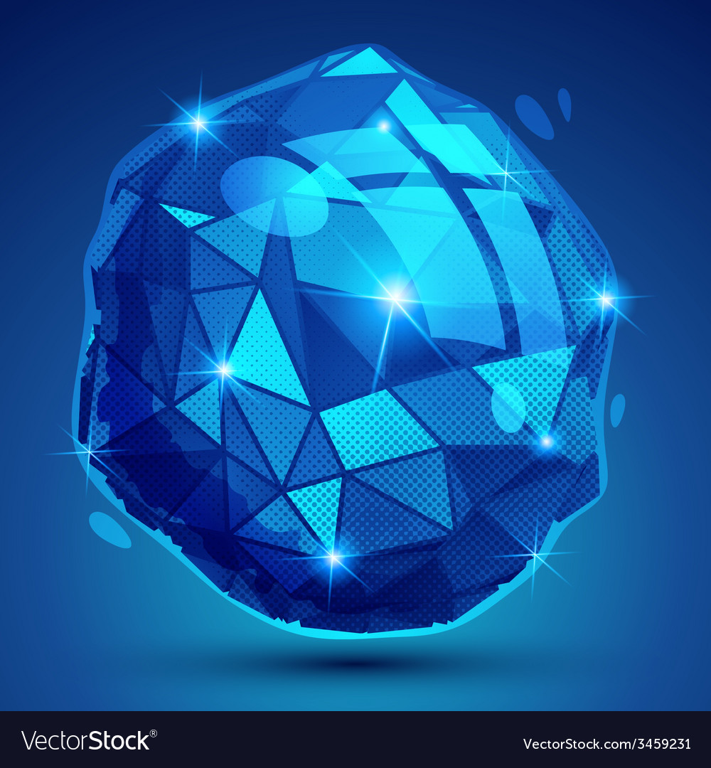 Textured plastic geometric object with flashes vector | Price: 1 Credit (USD $1)