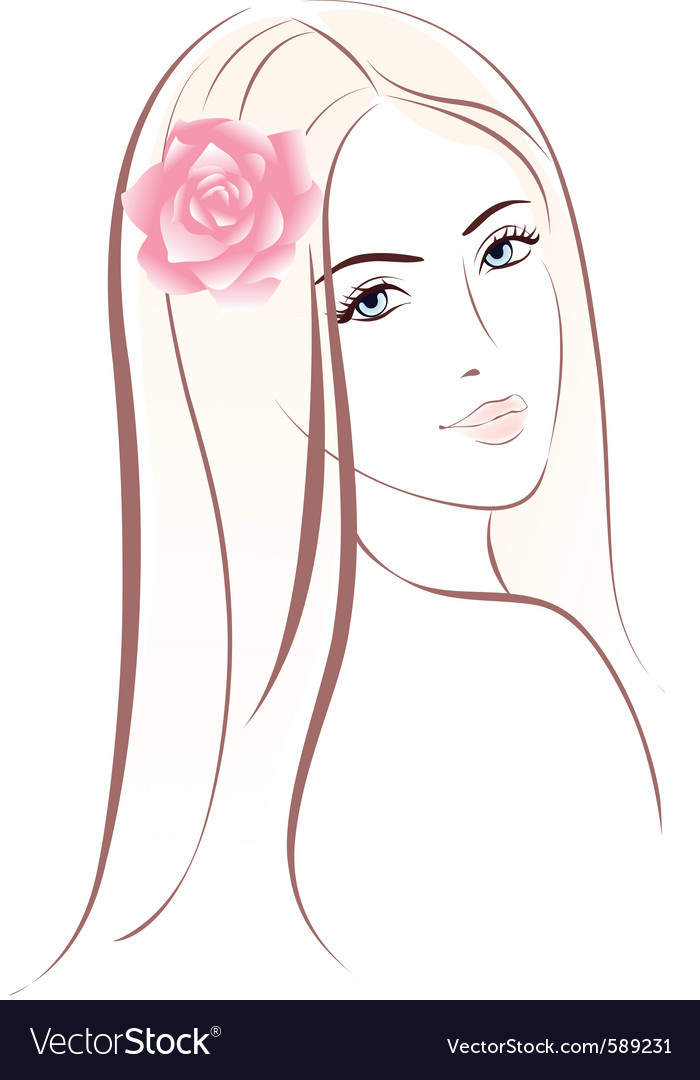 Woman face female portrait vector | Price: 1 Credit (USD $1)