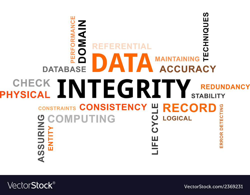 Word cloud data integrity vector | Price: 1 Credit (USD $1)