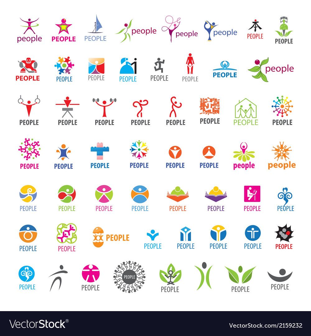 Biggest collection of logos people vector | Price: 1 Credit (USD $1)