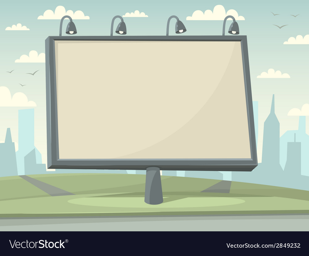 Billboard with city background vector | Price: 1 Credit (USD $1)