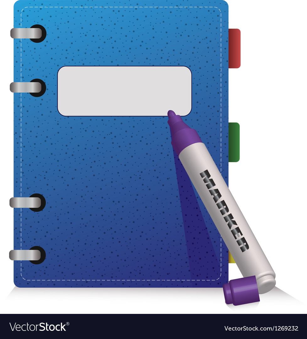 Blue diary vector | Price: 1 Credit (USD $1)