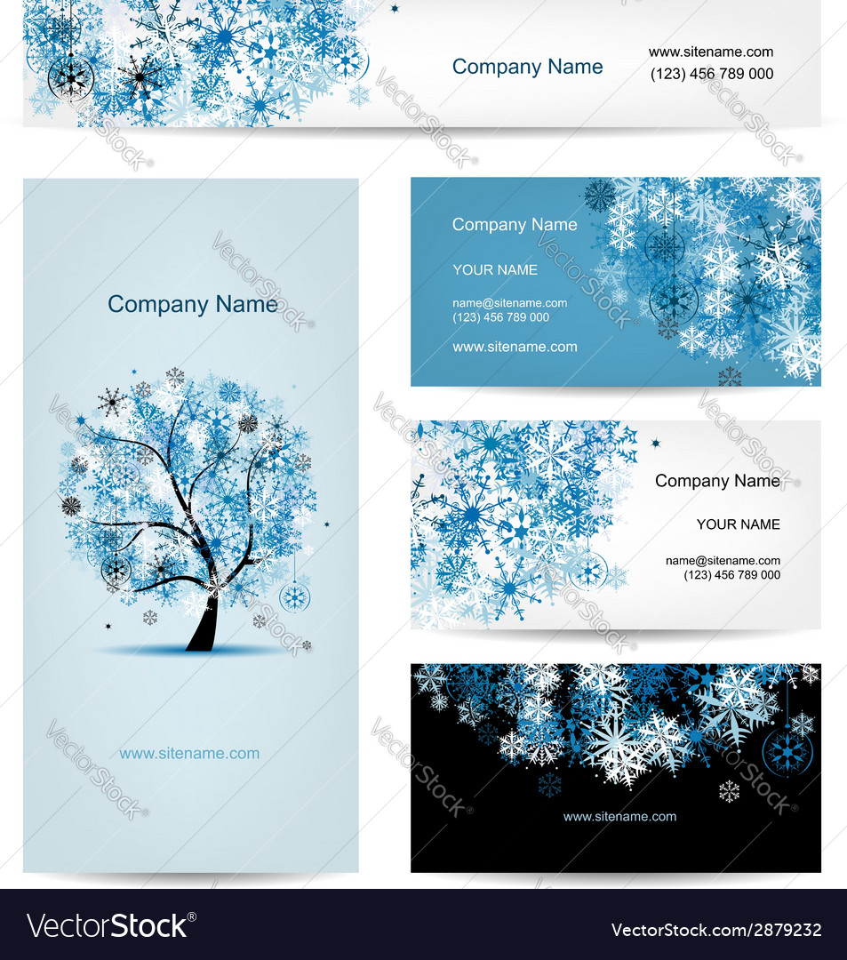 Business cards design winter tree vector   Price: 1 Credit (USD $1)