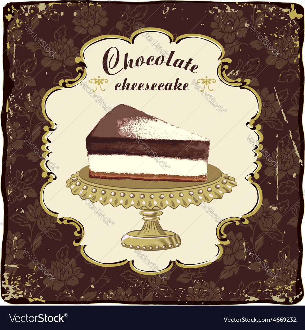 Chocolate cheesecake vector   Price: 1 Credit (USD $1)