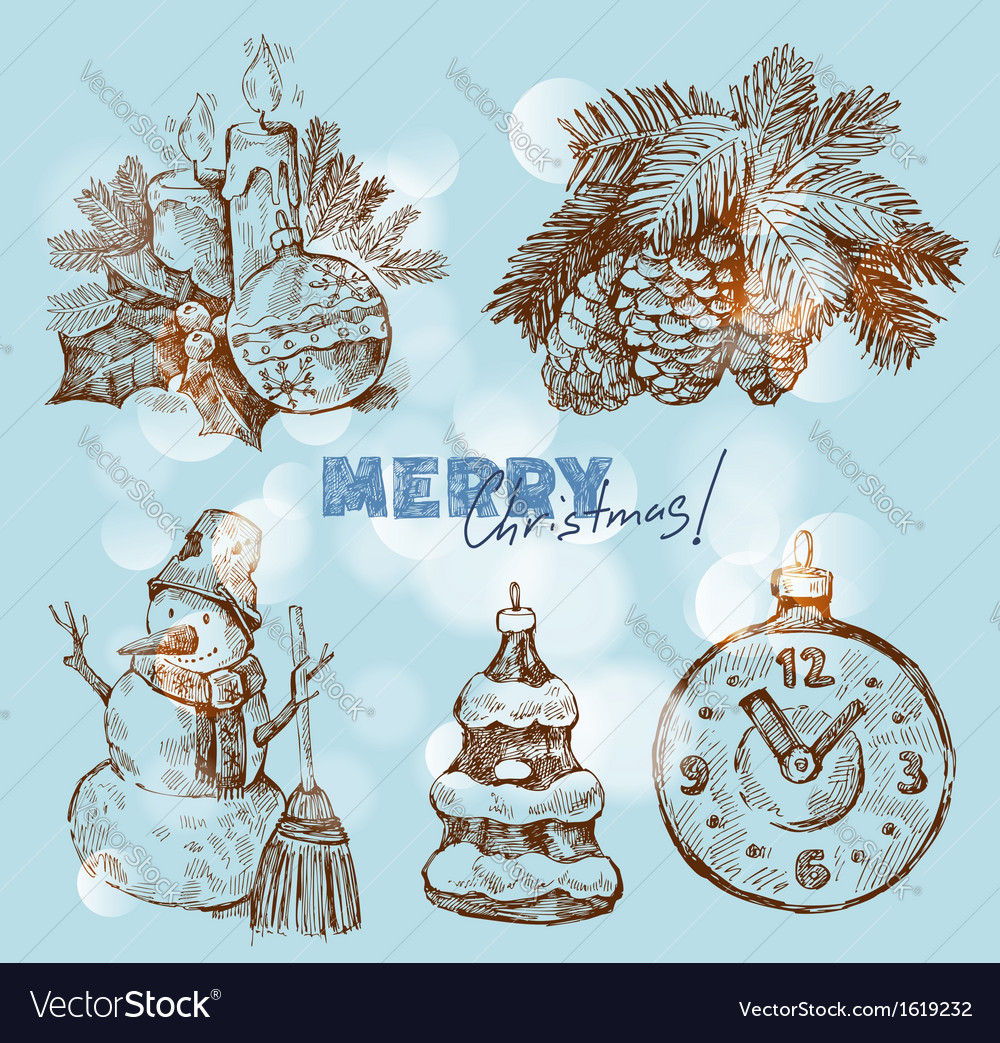 Christmas and happy new year vector | Price: 1 Credit (USD $1)