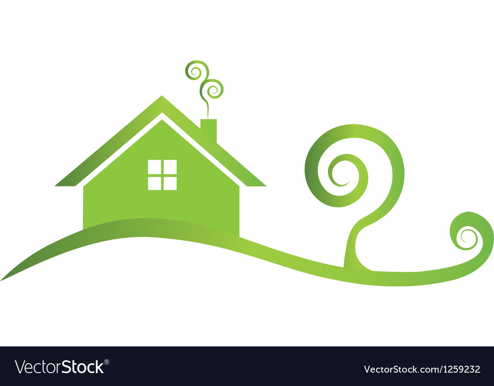 Green house icon logo vector | Price: 1 Credit (USD $1)