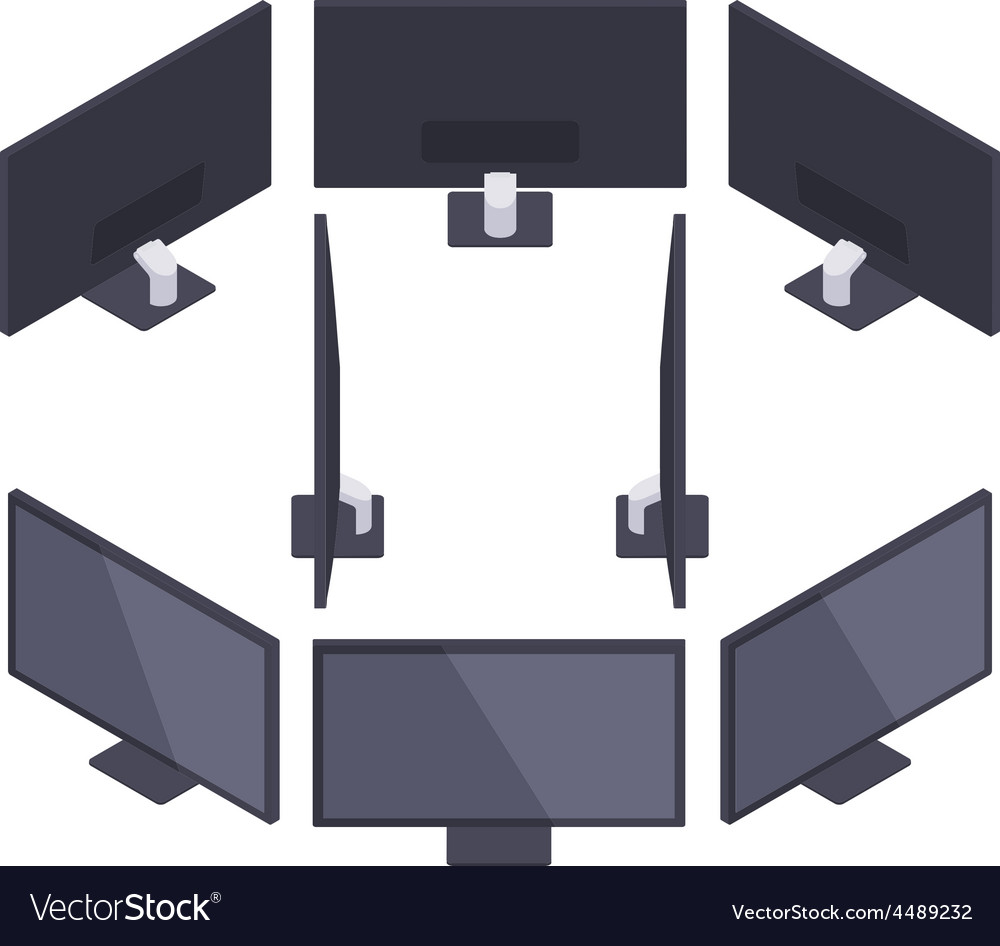 Isometric hd monitor vector | Price: 1 Credit (USD $1)