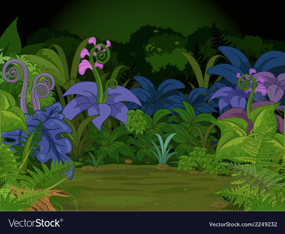 Jungle landscape vector | Price: 3 Credit (USD $3)