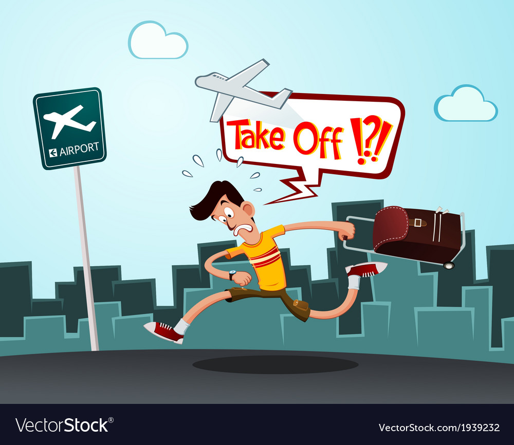 Late for departure vector   Price: 1 Credit (USD $1)