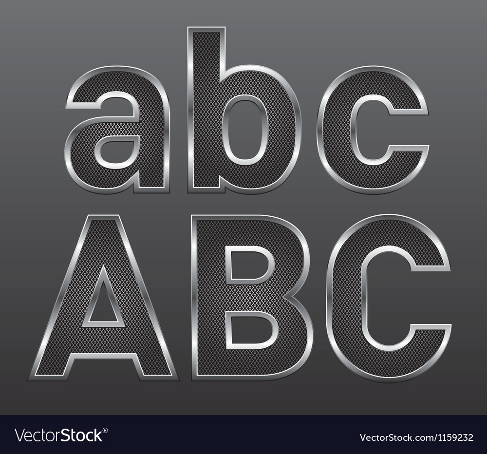 Metal letters big and small 01 vector | Price: 1 Credit (USD $1)