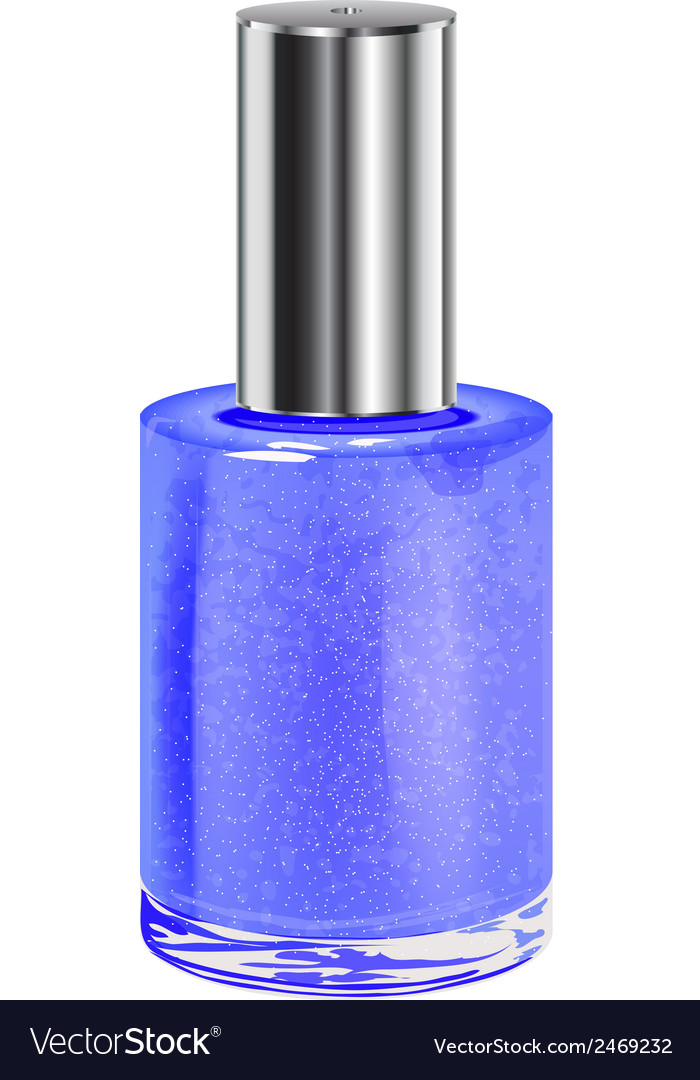 Nail polish with silver cap object vector | Price: 1 Credit (USD $1)