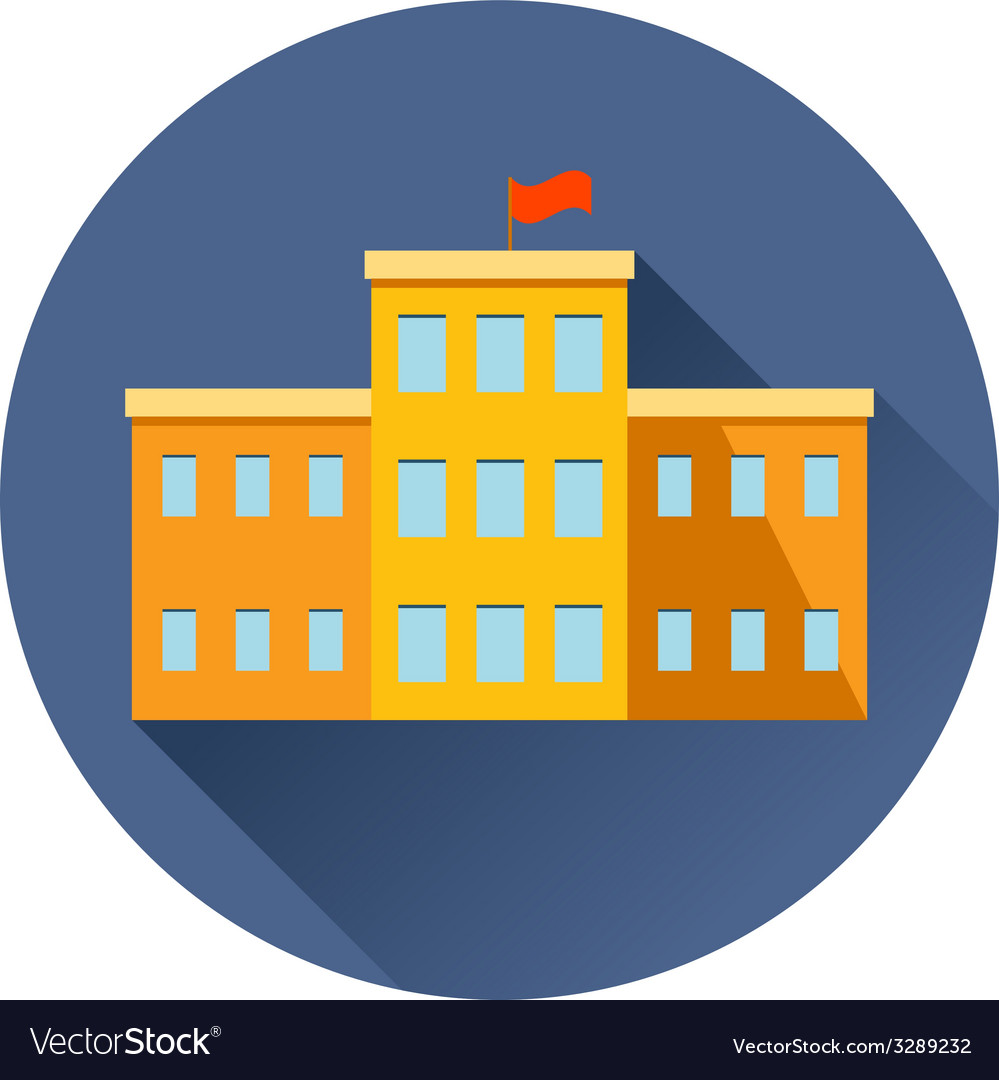 School building icon vector | Price: 1 Credit (USD $1)