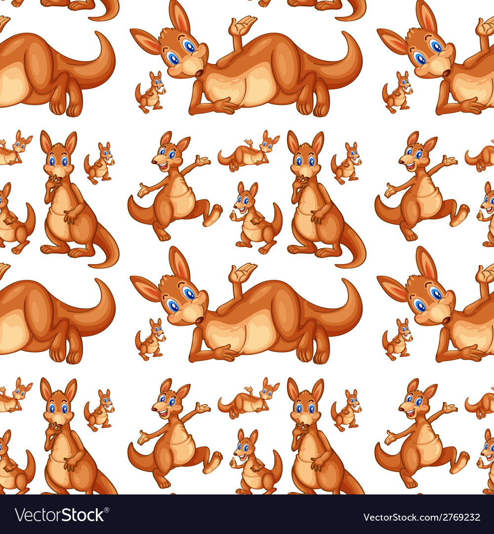 Seamless kangaroo vector | Price: 1 Credit (USD $1)