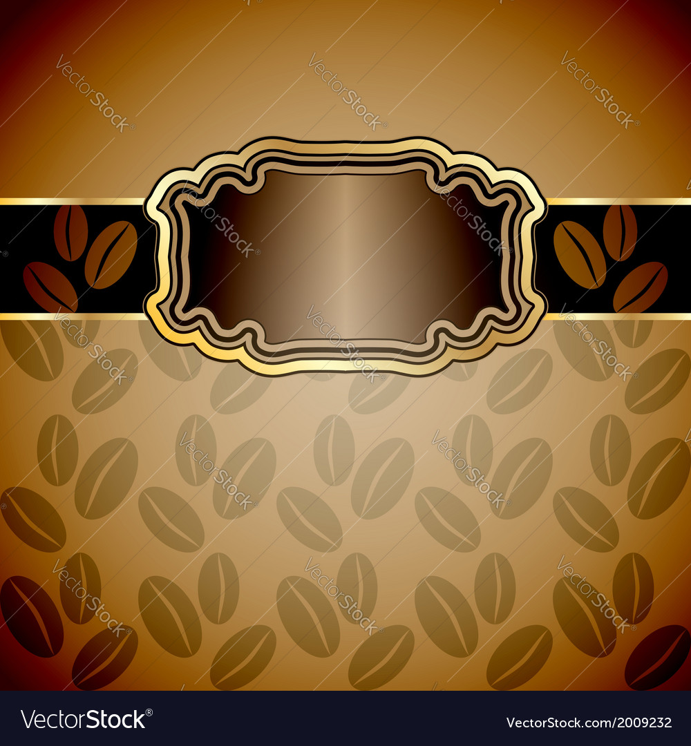 Vintage background with coffee beans vector | Price: 1 Credit (USD $1)