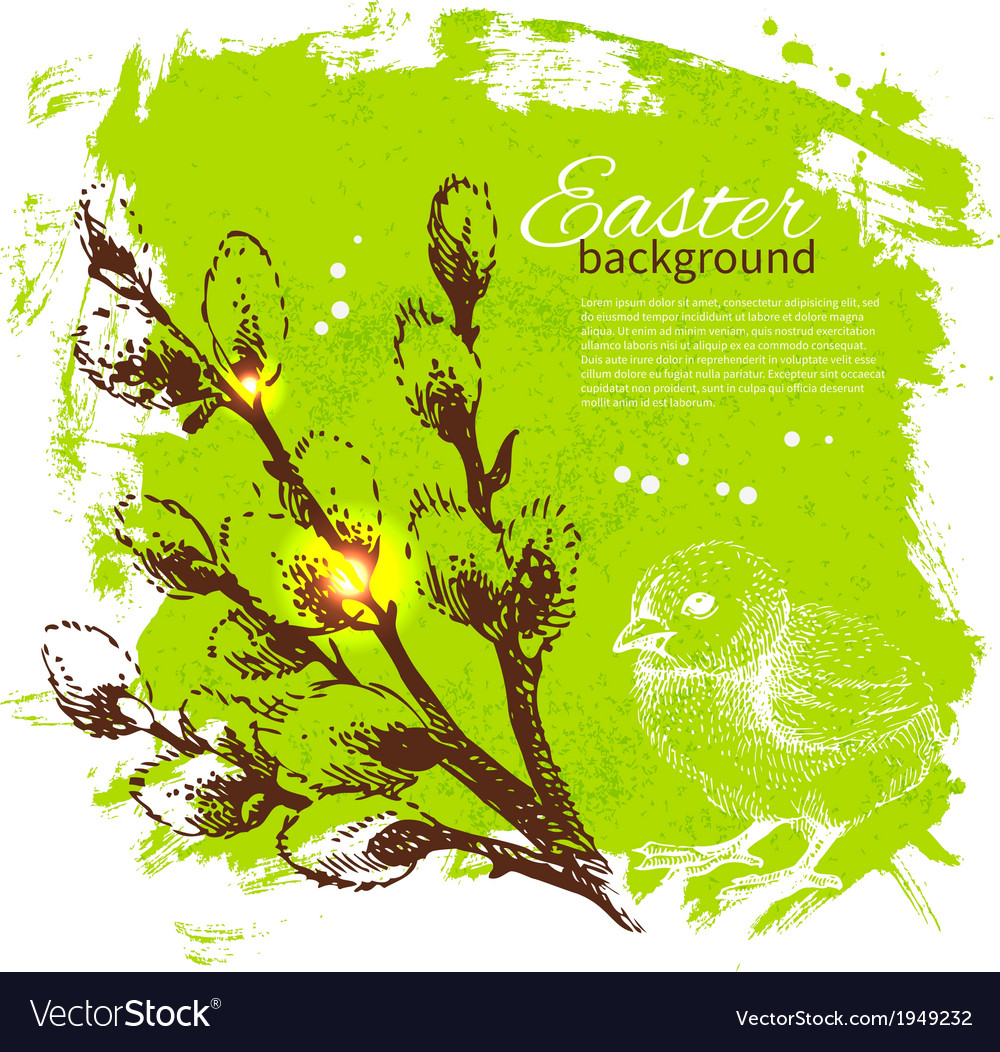 Vintage easter background vector | Price: 1 Credit (USD $1)