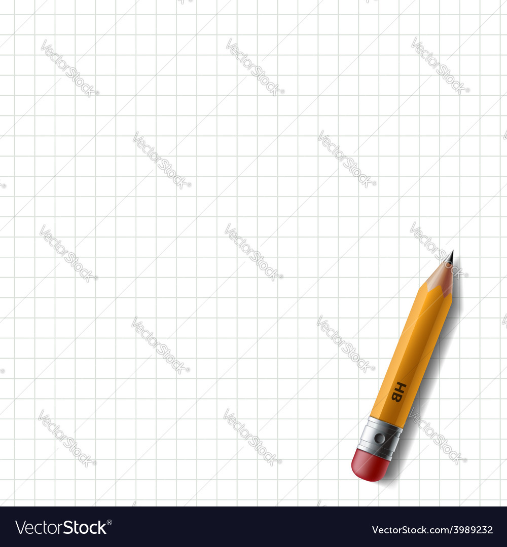 Wooden pencil with eraser lies on the notebook vector | Price: 1 Credit (USD $1)