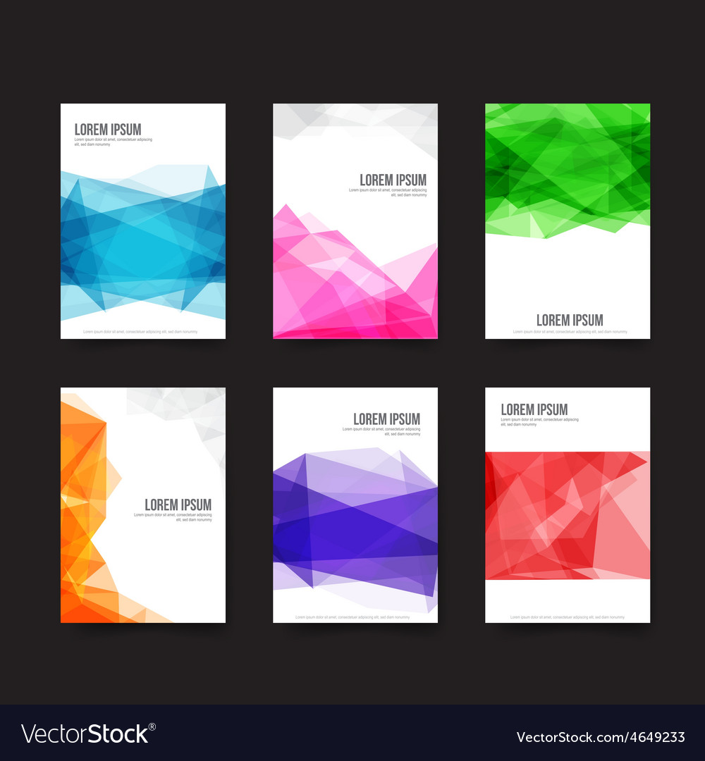 Abstract background set of simple light and clear vector | Price: 1 Credit (USD $1)