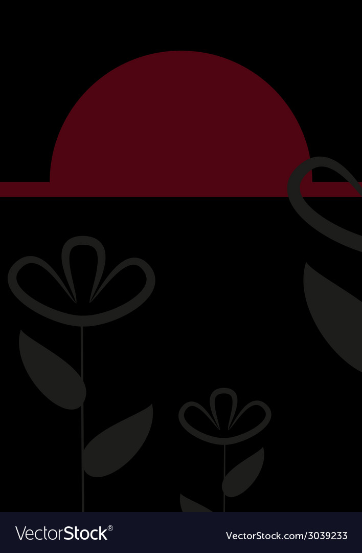 Abstract black and red floral card vector   Price: 1 Credit (USD $1)
