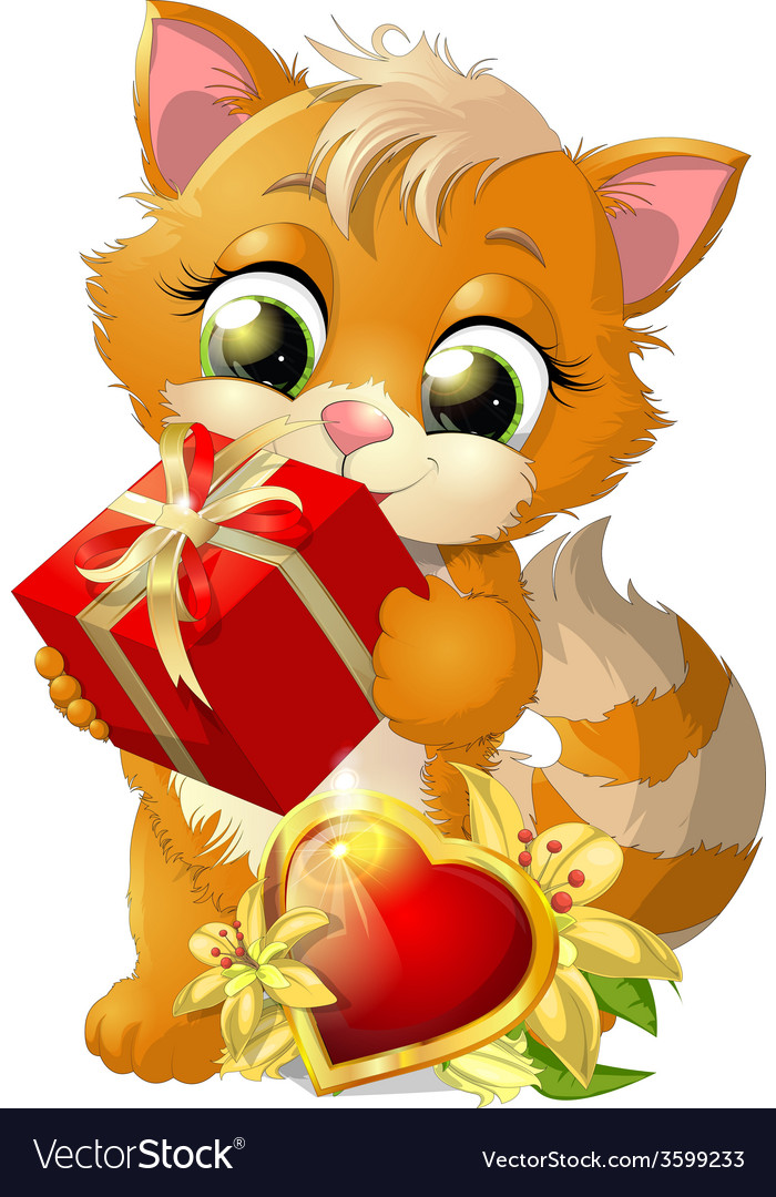 Beautiful kitten vector | Price: 3 Credit (USD $3)