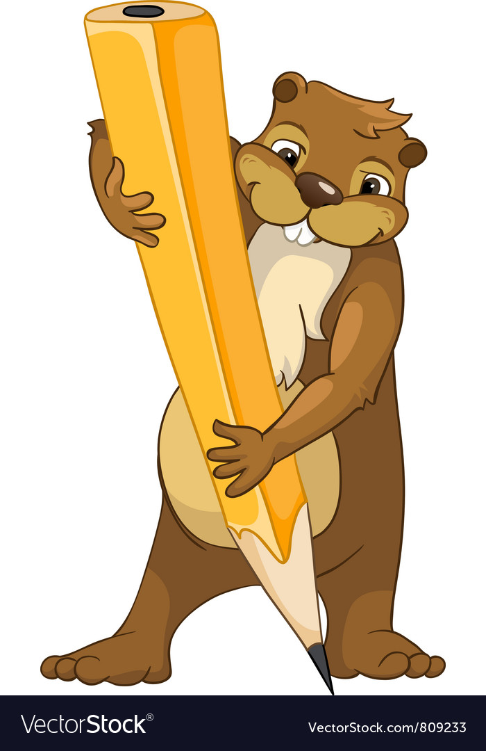 Beaver crees look for funny beaver by keyword vector | Price: 3 Credit (USD $3)