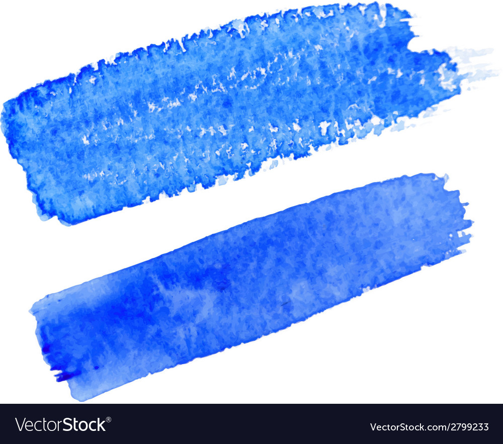 Blue watercolor brush strokes for your design vector | Price: 1 Credit (USD $1)
