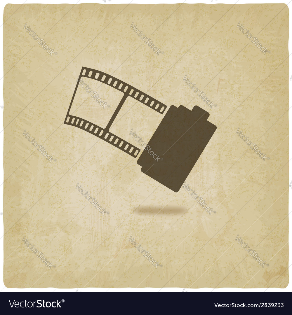 Camera film roll old background vector | Price: 1 Credit (USD $1)