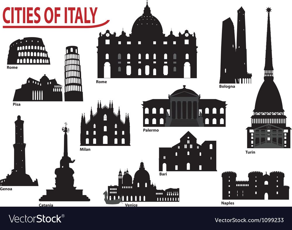 City of italy vector | Price: 1 Credit (USD $1)