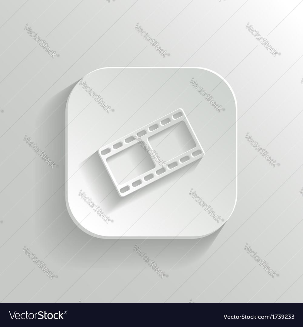 Film icon - white app button vector | Price: 1 Credit (USD $1)