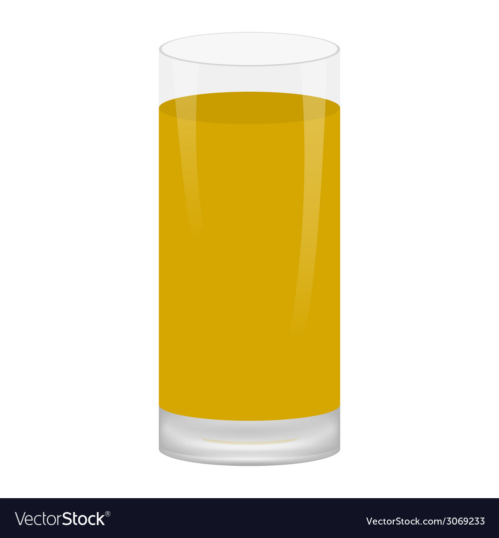 Glass of apple juice vector | Price: 1 Credit (USD $1)