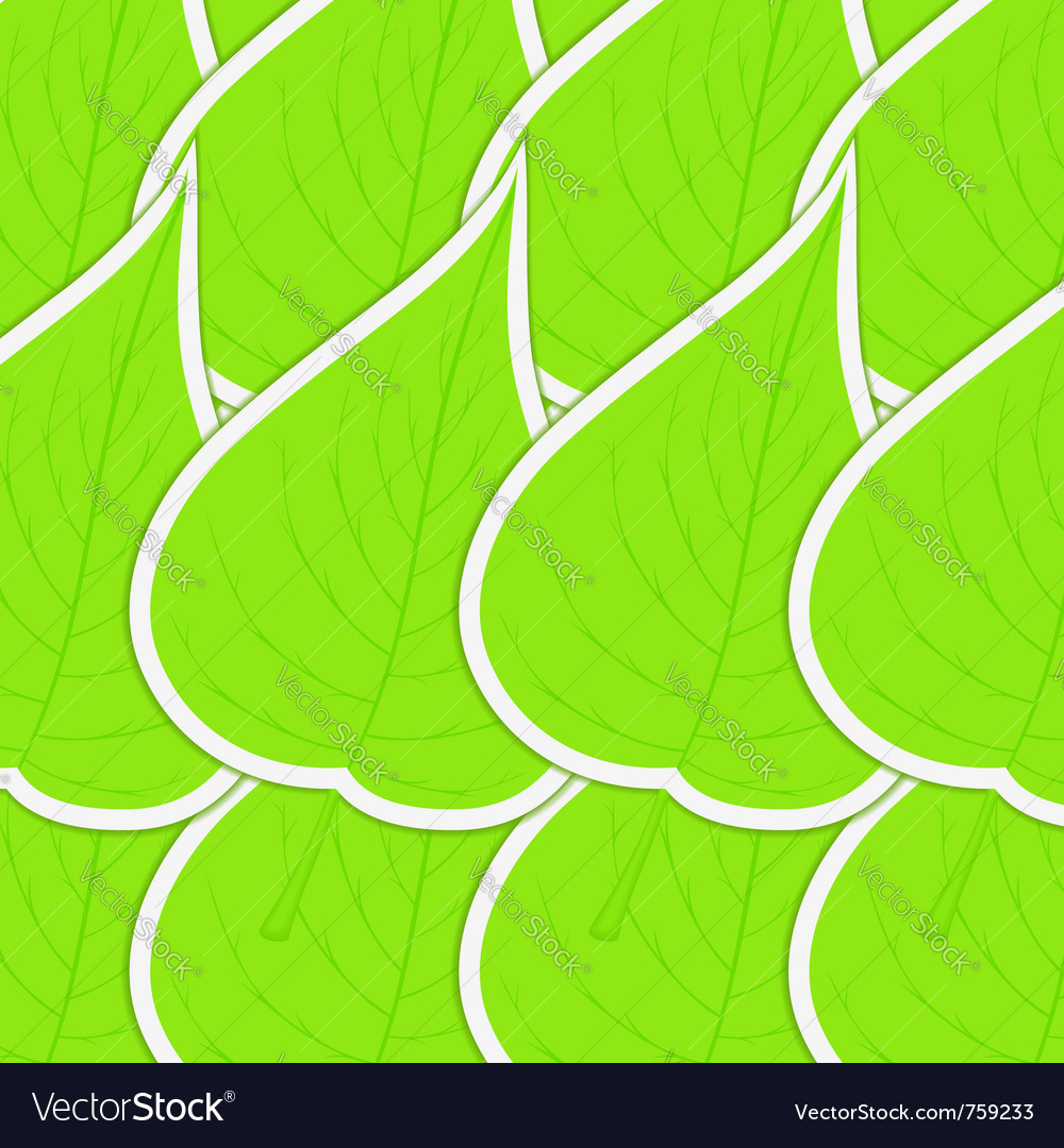 Green leaves background vector | Price: 1 Credit (USD $1)